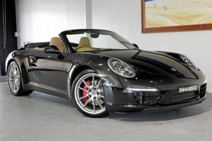 2012 Porsche 911 Carrera  Black Sports Automatic Dual Clutch Cabriolet Artarmon Willoughby Area Preview