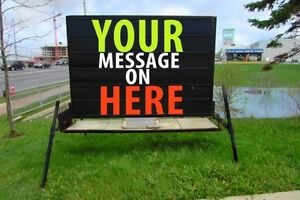 Mobile sign advertising rentals/sales