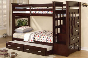 CADILAC STEP BUNKBED SINGLE OVER SINGLE