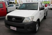 2011 Toyota Hilux TGN16R MY10 Workmate 4x2 White 5 Speed Manual Cab Chassis Underwood Logan Area Preview