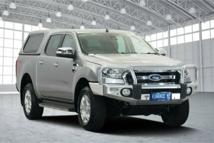 2016 Ford Ranger PX MkII XLT Double Cab Silver 6 Speed Sports Automatic Utility Victoria Park Victoria Park Area Preview