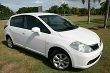 2006 Nissan Tiida C11 ST White 6 Speed Manual Hatchback Townsville Townsville City Preview