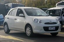 2013 Nissan Micra K13 MY13 ST White 4 Speed Automatic Hatchback Ringwood East Maroondah Area Preview