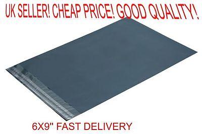 100 x Grey poly Plastic Mailing Bags 155 x 230 mm 6 x 9 50x 6x9 155x230 dvd