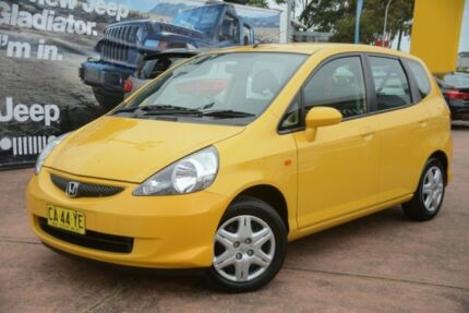 2007 Honda Jazz MY06 VTi Yellow 7 Speed CVT Auto Sequential Hatchback Brookvale Manly Area Preview