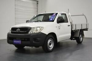 2010 Toyota Hilux TGN16R 09 Upgrade Workmate White 5 Speed Manual Cab Chassis Oakleigh Monash Area Preview