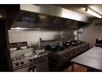 Complete Ventilation canopy system and wok burner
