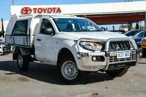 2016 Mitsubishi Triton MQ MY16 GLX White 6 Speed Manual Cab Chassis Osborne Park Stirling Area Preview