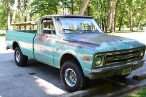 Recherche pickup gmc ou chevrolet 4x4 1967-1972