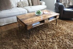 ANTIQUE PALLET/SKID COFFEE TABLES (Different Stains Available)