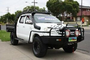 2009 Toyota Hilux KUN26R MY10 SR White 5 Speed Manual Cab Chassis Altona North Hobsons Bay Area Preview