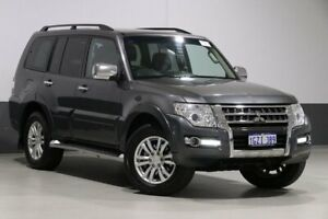 2016 Mitsubishi Pajero NX MY16 GLX LWB (4x4) Graphite 5 Speed Auto Sports Mode Wagon