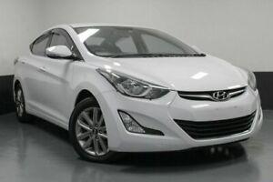 2014 Hyundai Elantra MD3 Trophy White 6 Speed Sports Automatic Sedan Glendale Lake Macquarie Area Preview