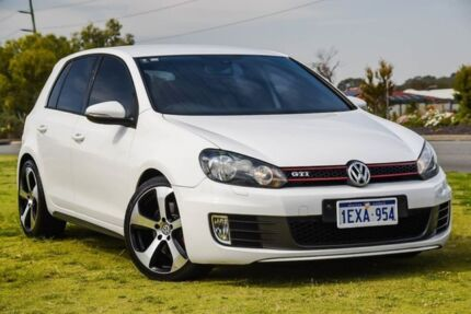 2012 Volkswagen Golf VI MY12.5 GTI DSG White 6 Speed Sports Automatic Dual Clutch Hatchback Wangara Wanneroo Area Preview
