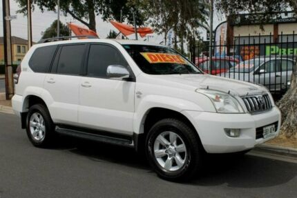 2006 Toyota Landcruiser Prado KDJ120R MY07 GXL (4x4) White 5 Speed Automatic Wagon Klemzig Port Adelaide Area Preview