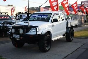 2011 Toyota Hilux KUN26R MY10 SR Xtra Cab White 5 Speed Manual Cab Chassis Altona North Hobsons Bay Area Preview