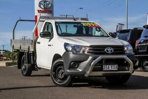2017 Toyota Hilux TGN121R Workmate 4x2 White 5 Speed Manual Cab Chassis Monkland Gympie Area Preview