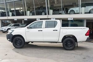 2015 Toyota Hilux GUN125R Workmate Glacier White 6 Speed Sports Automatic Cab Chassis Brookvale Manly Area Preview