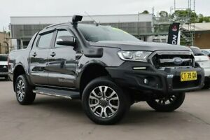 2018 Ford Ranger PX MkII 2018.00MY Wildtrak Double Cab Grey 6 Speed Manual Utility McGraths Hill Hawkesbury Area Preview