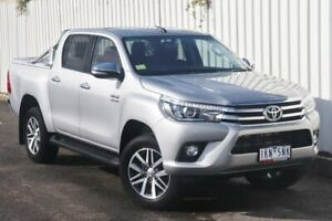 2017 Toyota Hilux GUN126R SR5 Double Cab Silver 6 Speed Sports Automatic Utility Watsonia Banyule Area Preview