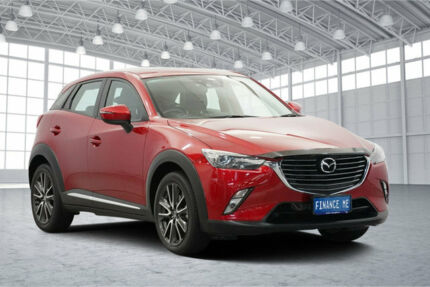 2016 Mazda CX-3 DK4WSA Akari SKYACTIV-Drive i-ACTIV AWD Red 6 Speed Sports Automatic Wagon Victoria Park Victoria Park Area Preview