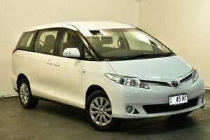 2016 Toyota Tarago ACR50R MY13 GLi Glacier White 7 Speed CVT Auto Sequential Wagon North Hobart Hobart City Preview