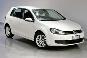 2012 Volkswagen Golf VI 118TSI Comfortline White Sports Automatic Dual Clutch South Morang Whittlesea Area Preview