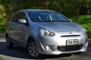 2013 Mitsubishi Mirage LA MY14 ES Silver 1 Speed Constant Variable Hatchback St Marys Mitcham Area Preview