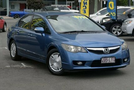 2008 Honda Civic 8th Gen MY08 Hybrid Blue 1 Speed Constant Variable Sedan Southport Gold Coast City Preview