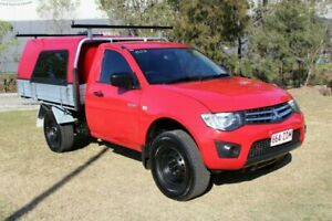 2013 Mitsubishi Triton MN MY13 GLX 4x2 Red 4 Speed Sports Automatic Cab Chassis Ormeau Gold Coast North Preview