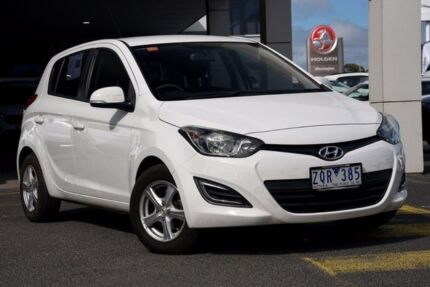 2013 Hyundai i20 PB MY13 Active White 6 Speed Manual Hatchback Mornington Mornington Peninsula Preview
