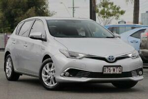 2016 Toyota Corolla ZWE186R Hybrid E-CVT Premium Silver 1 Speed Constant Variable Hatchback Hybrid Upper Mount Gravatt Brisbane South East Preview
