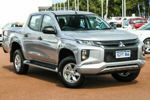 2019 Mitsubishi Triton MR MY19 GLX+ Double Cab Sterling Silver 6 Speed Manual Utility