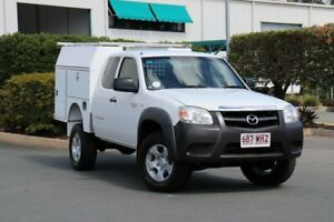 2010 Mazda BT-50 UNY0E4 DX+ Freestyle 4x2 Cool White 5 Speed Manual Cab Chassis