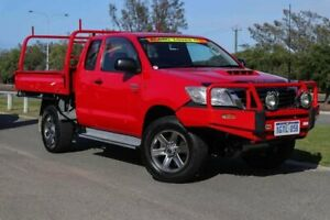 2015 Toyota Hilux KUN26R MY14 SR Xtra Cab Velocity Red 5 Speed Manual Cab Chassis Clarkson Wanneroo Area Preview