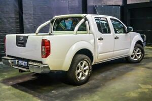 2013 Nissan Navara D40 S6 MY12 ST White 6 Speed Manual Utility