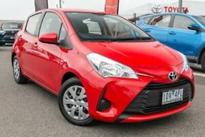 2019 Toyota Yaris NCP130R Ascent Red 4 Speed Automatic Hatchback Dandenong Greater Dandenong Preview