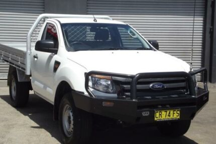 2014 Ford Ranger PX XL 2.2 HI-Rider (4x2) White 6 Speed Automatic Cab Chassis Riverstone Blacktown Area Preview