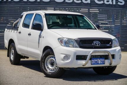 2010 Toyota Hilux GGN15R MY10 SR White 5 Speed Automatic Utility