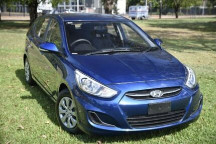2017 Hyundai Accent RB4 MY17 Active Blue 6 Speed Constant Variable Hatchback Winnellie Darwin City Preview