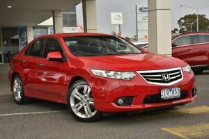 2012 Honda Accord Euro CU MY13 Luxury Navi Red 5 Speed Automatic Sedan Mornington Mornington Peninsula Preview