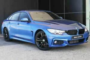 2015 BMW 428i F36 M Sport Gran Coupe Estoril Blue 8 Speed Sports Automatic Hatchback Wangara Wanneroo Area Preview