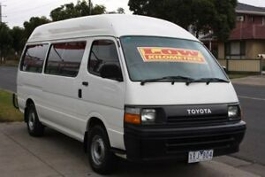 1991 Toyota Hiace Commuter Super LWB White 5 Speed Manual Bus