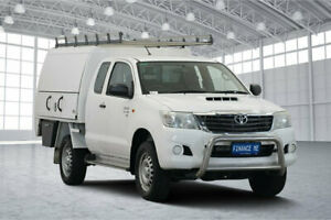 2014 Toyota Hilux KUN26R MY14 SR Xtra Cab White 5 Speed Manual Cab Chassis Victoria Park Victoria Park Area Preview