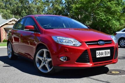 2011 Ford Focus LW Titanium PwrShift Red 6 Speed Sports Automatic Dual Clutch Hatchback St Marys Mitcham Area Preview