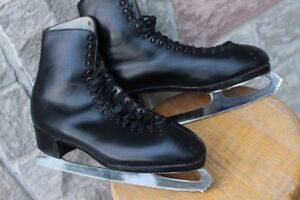 John Wilson leather FIGURE SKATES men's size US 12 ½ to 13 Made