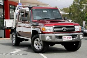 2015 Toyota Landcruiser VDJ79R GXL Double Cab Red 5 Speed Manual Cab Chassis Noosaville Noosa Area Preview