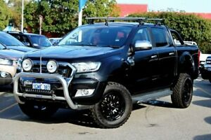 2015 Ford Ranger PX MkII XLT Double Cab Black 6 Speed Sports Automatic Utility Midland Swan Area Preview