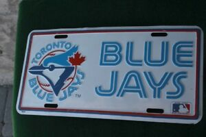 License plate with Blue jays bluejays logo in good shape