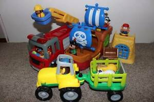 Toddler boys toys - Fire Engine, Pirate Ship and Tractor Jannali Sutherland Area Preview